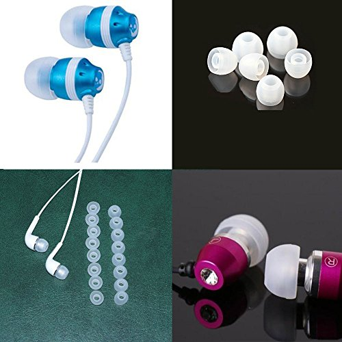 10 Pairs Small Replacement Clear Silicone In Ear Earbuds Tips Fits Samsung Sony