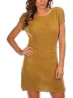 Anouska Vestido Punto Lisa (Mostaza)