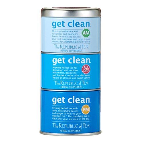 The Republic Of Tea Get Clean Stackable Tea Tin, 42 Tea Bags