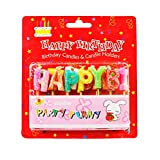 The Candle Shop Multicolor Happy Birthday Alphabets With Glitter