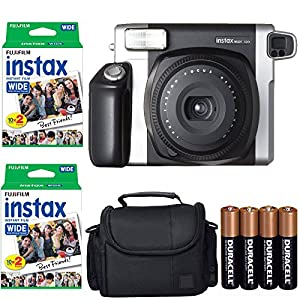 Fujifilm INSTAX 210 Photo Instant Camera With Fujifilm Instax Wide Instant Film Twin Pack Instant Film (40 Shots) + Camera Case With Photo4less Microfiber Cleaning Cloth Top Bundle - International Version (No Warranty)