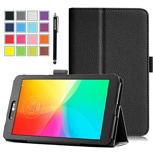 Click to buy LG G Pad 8.0 Case, Pasonomi® Premium PU Leather Stand Cover With Smart Cover Auto Wake / Sleep Feature for LG G Pad V480 8-Inch Android Tablet (Black) - From only $99.99