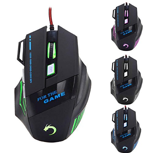 Kinghard 7 Button 3200 DPI LED Optical USB Wired Gaming Mouse For Laptop Gamer