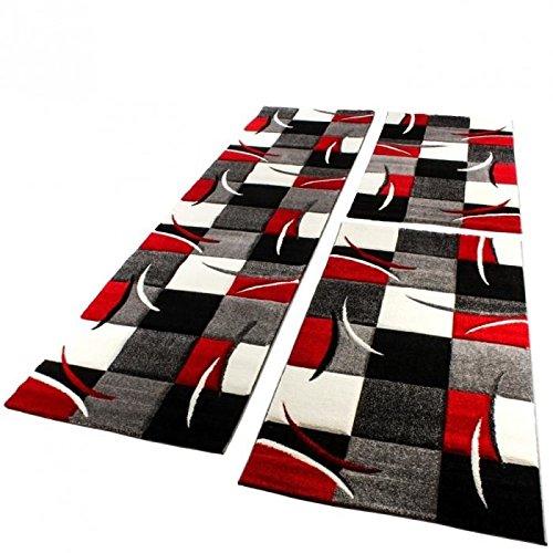 tapis-contemporain-bas-contour-pile-de-decoupe-3d-gris-rouge-blanc-diamond-grosse-80-x-300-cm