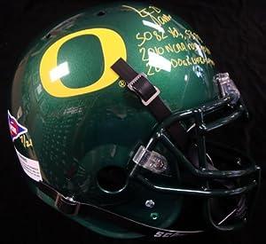 LaMichael James Autographed Oregon Ducks Full Size Authentic Schutt Helmet 5082 &...