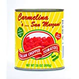 Carmelina 'e San Marzano Italian Chopped Tomatoes in Puree, 28-Ounce Cans (Pack of 12) ~ Mangia