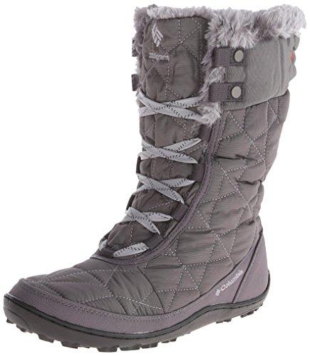 Columbia Women's Minx Mid II Omni-Heat Winter Boot, Shale/Bright Red, 8.5 M US (Amazon Womens Snow Boots compare prices)