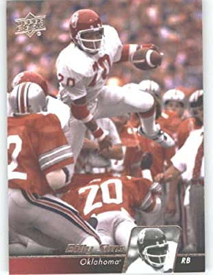 2011 Upper Deck Football Trading Card #39 Billy Sims - Oklahoma Sooners - Detroit Lions - NFL Legend