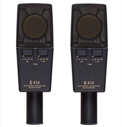 Akg C414 Xlii St Large Diaphragm Condenser, Stereo Matched Pair