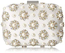 Aldo Cantley Clutch, White, One Size