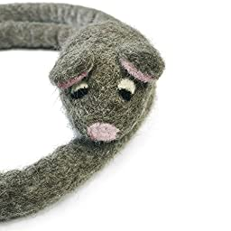 KittiChase - Cat Chase Toy with Mouse - Handmade with 100% All Natural Wool - For Cats and Kittens