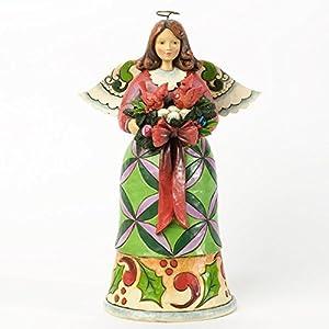 Jim Shore Christmas Angel With Cardinals Figurine