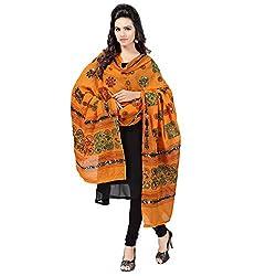 Banjara WomenS Cotton Stoles & Dupattas Kutchi Chakachak (Chk07 _Light Orange _Handicraft Dupatta_Free Size)