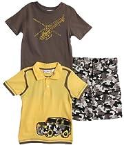 2t Nickelodeon Toddler Boys 2 Piece Teenage Mutant Ninja Turtles Tee and Twill Short Set Navy