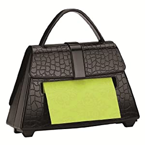 Post-it Pop-up Notes Dispenser for 3 x 3-Inch Notes, Black Purse, Includes Green Post it