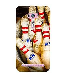 SKITTLES BOWLING PINS LYING IN A BARREL 3D Hard Polycarbonate Designer Back Case Cover for Asus Zenfone Selfie :: Asus Zenfone Selfie ZD551KL
