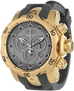 Invicta Men's 11956 Venom Reserve Chronograph Silver Grey Dial Grey Polyurethane Watch