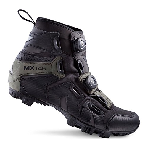 Lake Cycling 2017 Men's MX145-X Wide Mountain Cycling Shoes - Black/Grey (Black/Grey - 40) (Lake Winter Cycling Shoes compare prices)