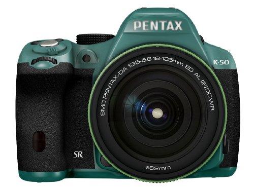 RICOH デジタル一眼レフ PENTAX K-50 DA18-135mmWRレンズキット ミント/ブラック 088 K-50 18-135WR KIT MINT/BLACK 088 11476