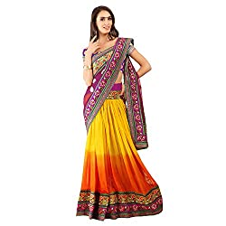 Multi Colour With Net And Japan Sin Designer Lehenga Saree