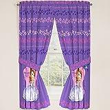 Disney Junior Sofia the First Princess Drapes Panels Curtains, Set of 2 (42 x 63)