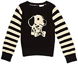 YUMI GIRLS Intarsia Knitted Dog Single Breasted Girl's Jumper by YUMI GIRLS
