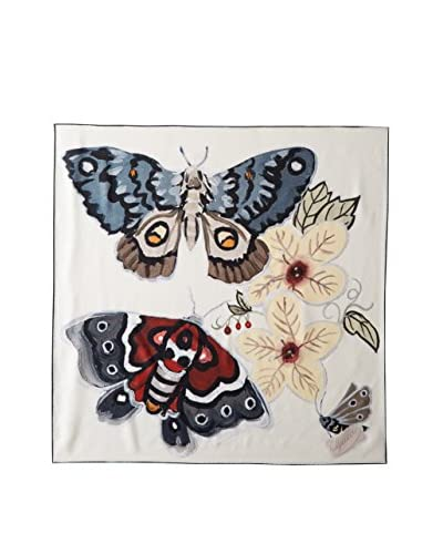 Gucci Women's Butterfly Scarf, White Multi
