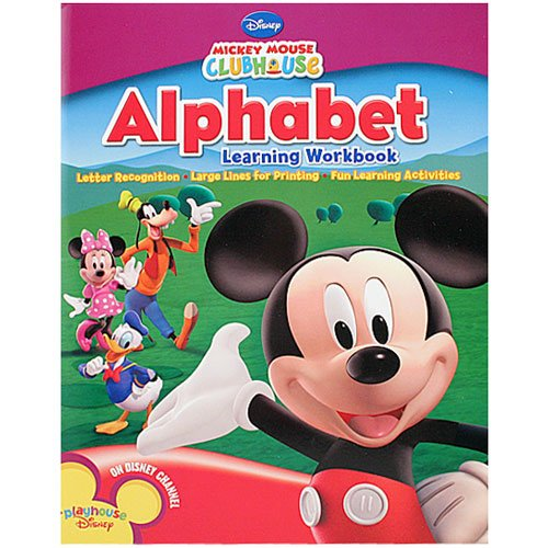 Mickey Mouse Alphabet Learning Workbook - 1