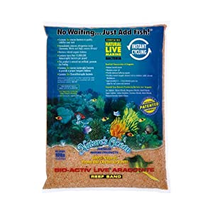 Worldwide Imports AWWA10781 Live Aragonite Sand, 20-Pound, Gold