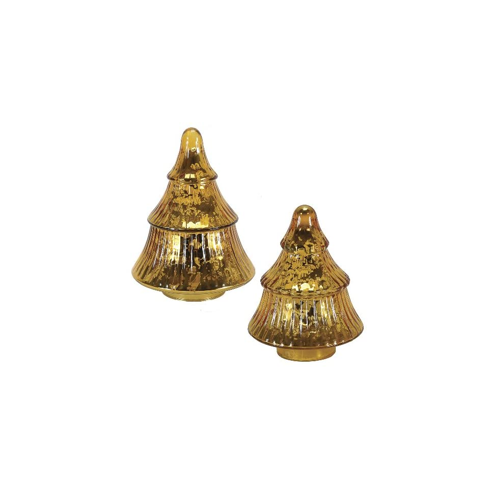 Mercury glass christmas tree set in gold on popscreen