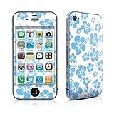 Apple iPhone 4用スキンシール【Turquoise Hibiscus】