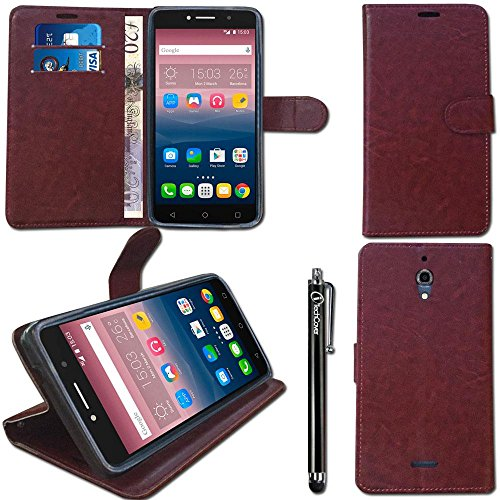 itechcoverr-alcatel-pixi-4-6-inch-case-6-4g-9001x-slim-brown-pu-leather-wallet-case-cover-with-tpu-g