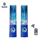 Soundsoul Music Fountain Mini Amplifier Dancing Water Speakers I-station7 Apple Speakers (blue, Bluetooth speaker)