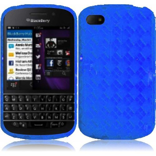 Cell Accessories For Less (Tm) For Blackberry Q10 Tpu Cover Case - Blue - By Thetargetbuys *Free Shipping*
