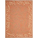 Safavieh Courtyard Collection CY7108-21A7 Terracotta and Cream Area Rug, 8 feet by 11 feet (8' x 11')