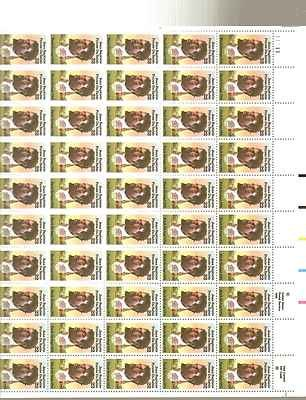 Jean Baptiste Pointe du Sable Sheet of 50 x 22 Cent US Postage Stamps Scot 2249