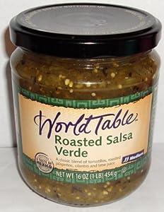 World Table Roasted Salsa Verde 16 Oz Jar (Pack of 4)