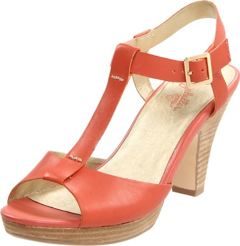 Seychelles Women's Hey There T-Strap Sandal,Orange,7.5 M US