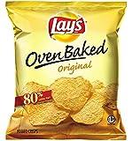 Lay's Baked Potato Crisps, Original, 1.125-Ounce Large Single Serve Bags (Pack of 64)