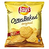 Lay's Baked Potato Crisps, Original, 1.125-Ounce Large Single Serve Bags (Pack of 64) ~ Lay's