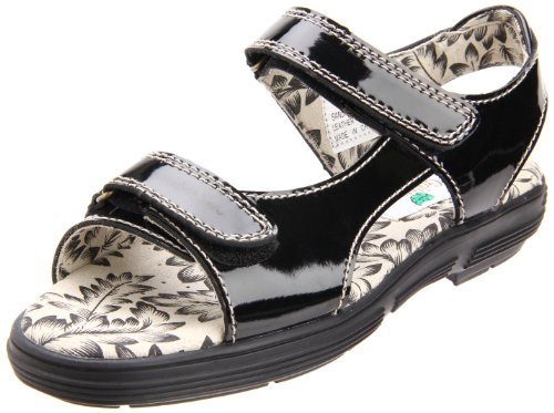 Golfstream Women's Exotic Two Strap Golf Shoe,Black Patent,6 M US