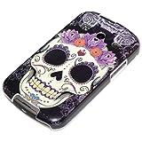 Samsung Galaxy Xcover 2 Case Cover Bumper Hardcase Skull Purple Headdress