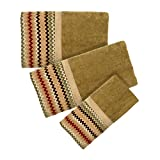 Popular Bath Waves 3-Piece Towel Set, Mocha