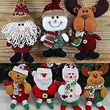 Generic White Red Santa : Santa Claus Snow Man Doll Christmas Decorations Xmas Tree Gadgets Ornaments Doll Christmas...