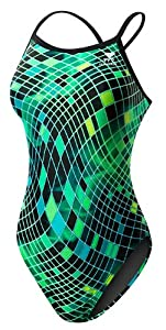 TYR SPORT Women's Disco Inferno Diamondfit Swimsuit (Green, Size 38)