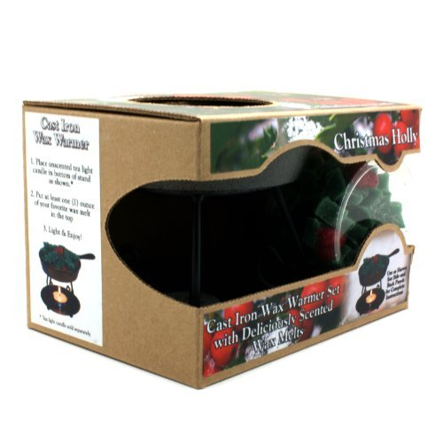 Bright Ideas Candle Wax Warmer Gift Pack, Christmas Holly