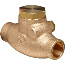 Milwaukee Valve 1509 Series Bronze Swing Check Valve, Class 125, Solder End