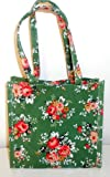 SMALL FLORAL RE-USABLE WIPE CLEAN LITTLE BAG (GREEN)