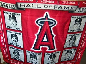 Los Angeles Angels of Anaheim Promotional Hall of Fame Red Fleece Blanket by Angels