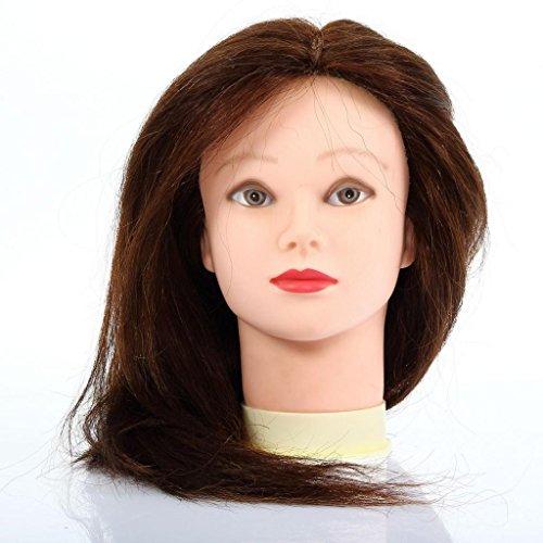 """CoastCloud Testa Manichino Donna Con i Cappelli Per Parruchieri 100% Cappelli Umani Maroni lunghezze 24"""" Testa Modello Con morsetto"""